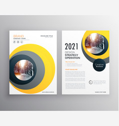 Elegant yellow business brochure template design vector