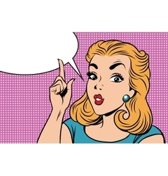 Emoji retro strict right girl emoticons vector
