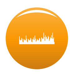 Equalizer audio icon orange vector