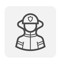firefighter icon black vector image