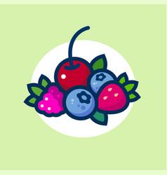 Forest berries berries leaves vector