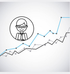 Growth business concept icon vector