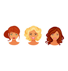 hair color set vector image