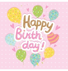 Happy birthday card background with balloons vector