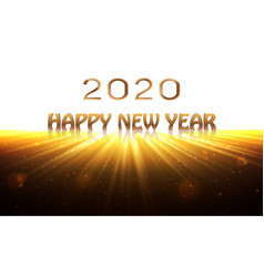 happy new year 2020 banner sunrise background as vector image