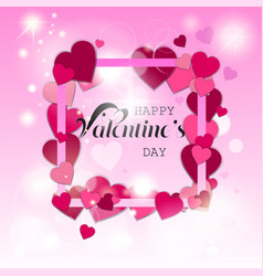 happy valentines day love holiday concept vector image