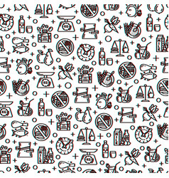 healthy diet seamless pattern vector image