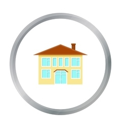 House icon cartoon Single building icon from the vector image