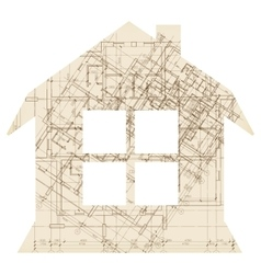 House with window architecture icon vector