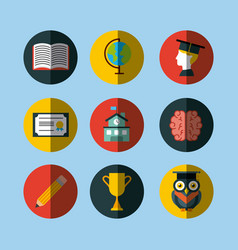 icons set graduate vector image