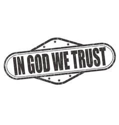 In god we trust stamp vector