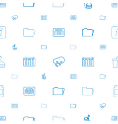 Info icons pattern seamless white background vector