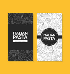 italian pasta card template with traditional vector image