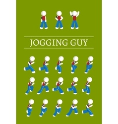 Jogging guy vector