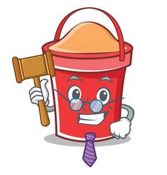 judge bucket character cartoon style vector image vector image
