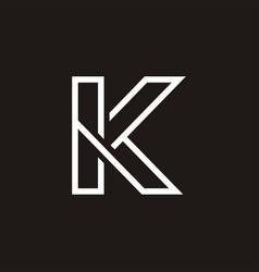 K letter simple logo vector