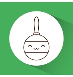 Kawaii sphere of Christmas season design vector