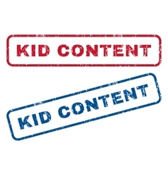 Kid Content Rubber Stamps vector image