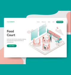 landing page template food court concept vector image