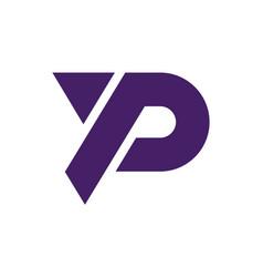 letter p icon concept logo design vector image
