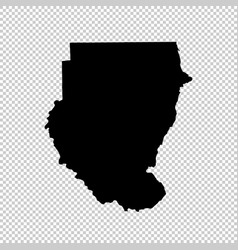 Map sudan isolated black on vector