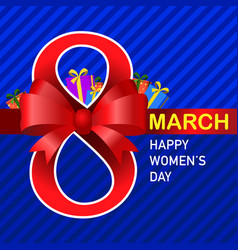 march 8 the international womens day card vector image