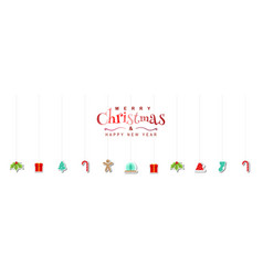 merry christmas holiday background design vector image