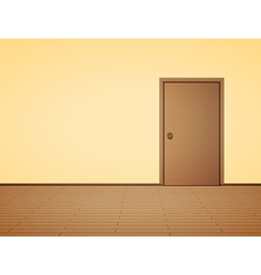 Pale interior with door vector image