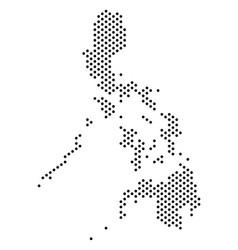 Pixel philippines map vector