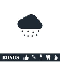 Rain icon flat vector image