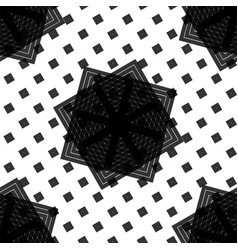 seamless black and white abstract concentric vector image