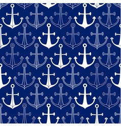 Seamless pattern made of anchors vector