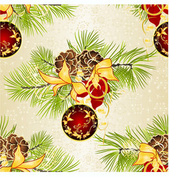 Seamless texture christmas and new year vector