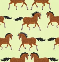 Seamless texture dark Horses stallion vector