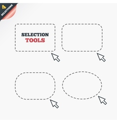 Selection rectangles Dashed lines with cursor vector