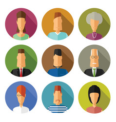 set of colorful funny avatars and characters in vector image