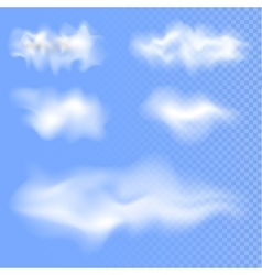 Set of different isolated clouds EPS 10 vector