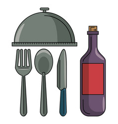Set of restaurant elements vector