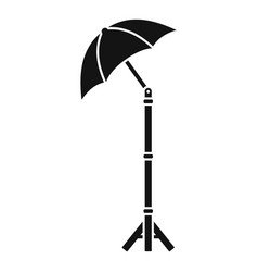 shadow camera umbrella icon simple style vector image