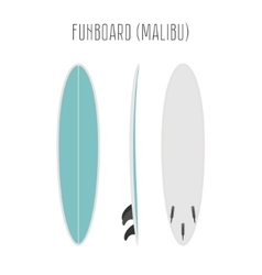 Surf fun board with three sides vector
