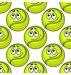 Tennis ball seamless pattern vector image