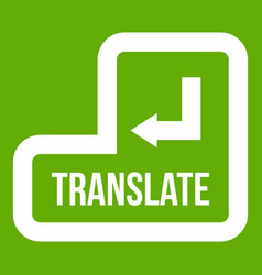 translate button icon green vector image