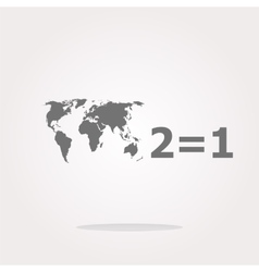 Two for one sign icon Take two pay for one sale vector image