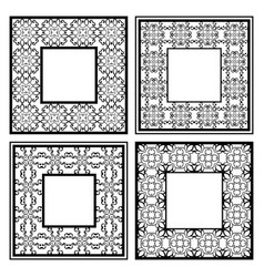 Vintage ornamental frames vector
