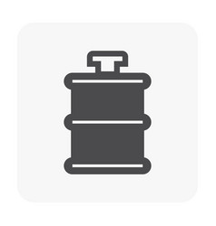 water truck icon black vector image