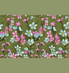 wide vintage seamless background pattern blue vector image