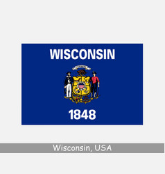wisconsin usa state flag wi usa vector image