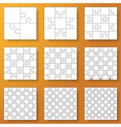collection of various jigsaw puzz vector image