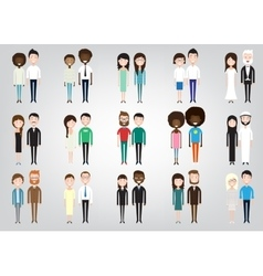 different pairs of two people vector image vector image