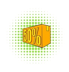 Half price special offer icon comics style vector image vector image